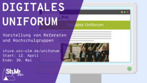 Plakat für das digitale Uniforum 2021